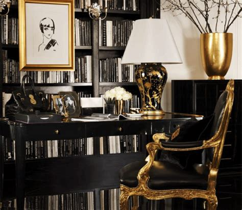 Gold Office by Office Space Gotoglamourgirl