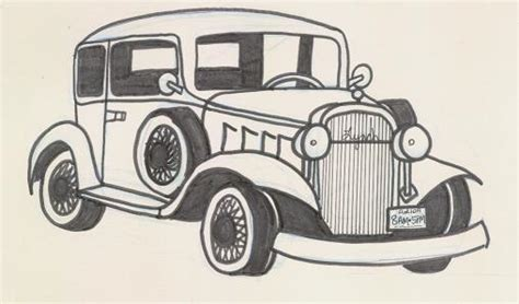 old cars drawings how to draw old cars