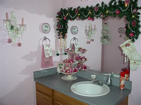 pink bathroom ornaments 1000 images about christmas decorations bathroom