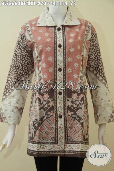 Jumbo Blouse Big Size Batik Khana blouse batik wanita ukuran jumbo sedia baju batik wanita