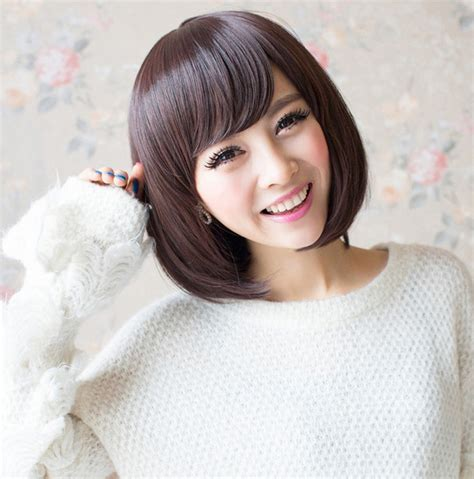 Wig Cewek 1 beautywig s wig cap sweet s selling bob haircut synthetic jpg