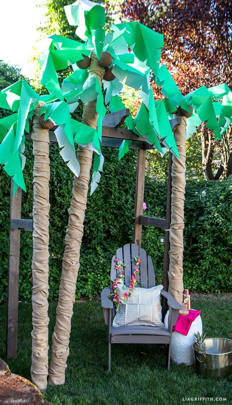 how to decorate a palm tree diy palm tree decor lia griffith