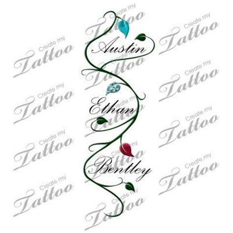 tattoo ideas for grandchildren names tattoos with three kids names in it children s name with