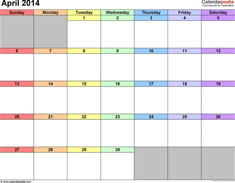 2014 calendar template great printable calendars