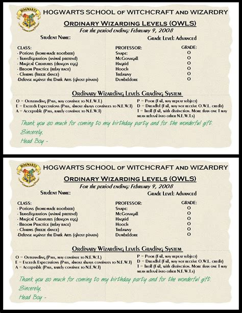 Harry Potter Report Card Template by Potions Recipes Harry Potter Www Pixshark Images