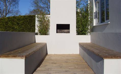 Chiminea Seating Area by Landscaping Samuel Pd