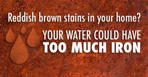 brown stains in bathtub why does my sink tub and toilet have reddish brown stains