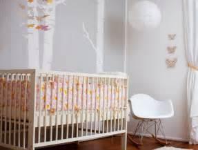 modern pink and orange nursery