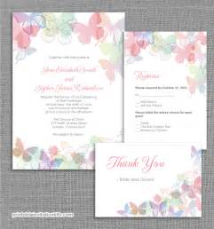 Free Printable Wedding Invitation Templates by Butterflies Wedding Invitation Set Wedding