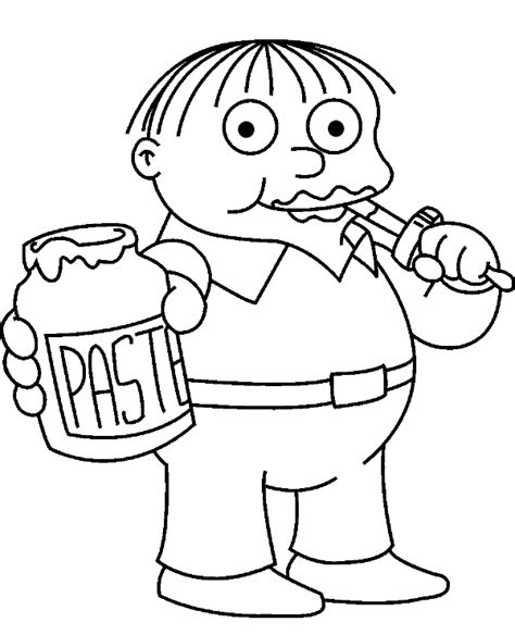 coloring pages of the simpsons christmas ralph wiggum coloring pages to print or download for free