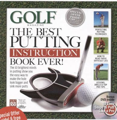 best golf swing books golf the best putting instruction book ever book dvd