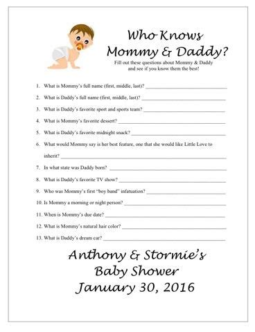 Free Printable Baby Shower Who Knows The Best by Baby Shower Free Printable Baby Shower Babies Baby Shower And Showers