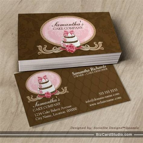 cake business cards templates cake bakery business cards