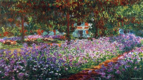 awesome home garden painting share on facebook imagefullycom hd monet wallpaper wallpapersafari