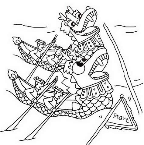 vietnamese dragon coloring page chinese dragon boat festival coloring pages family