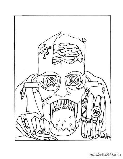 halloween coloring pages monsters halloween monsters coloring pages bestofcoloring com