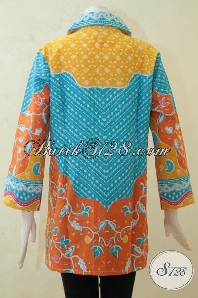 aneka blus batik formal kombinasi aneka warna menarik