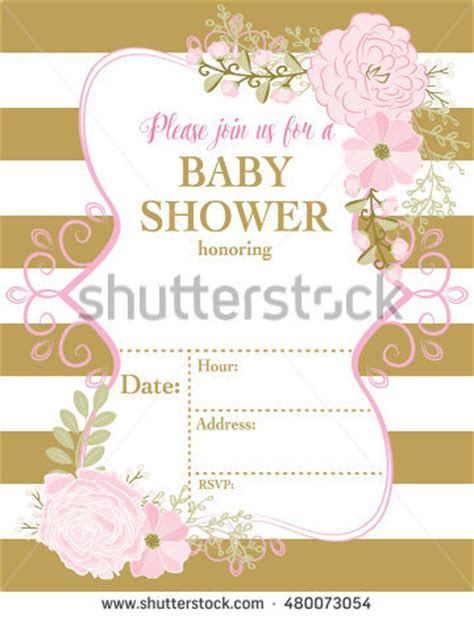 gold and pink flower cards template pink and gold striped invitation stock images royalty