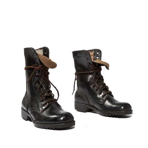 standard issue army boots 1981 standard issue combat boots jet black leather