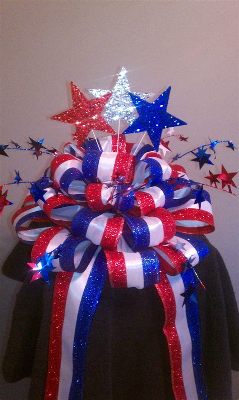 patriotic christmas lights patriotic tree ideas patriotic tree bow great ideas from other