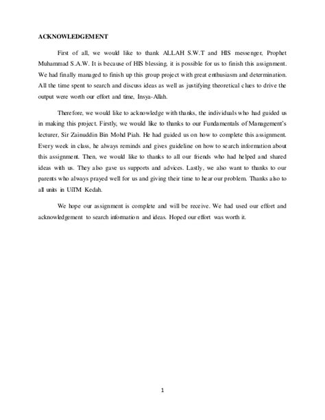 acknowledgement thesis malaysia mgt162 assignment pos malaysia