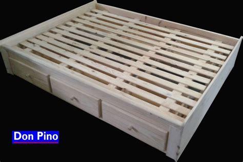 cama con cajones abajo cama 2 plazas con cajones debajo ideal optimizar espacio