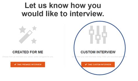 interview section improve your interview skills with expert feedback