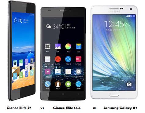 Samsung A7 Vs S5 Gionee Elife S7 Vs Gionee Elife S5 5 Vs Samsung Galaxy A7