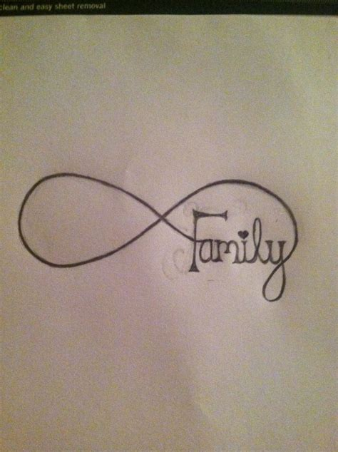 family infinity tattoo designs infinity family design idea tattoos