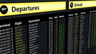 Airport Arrivals Flight Information On Airport Arrivals Departures Board