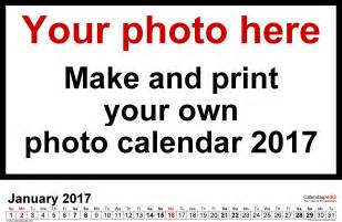 picture calendar template photo calendar 2017 free printable word templates