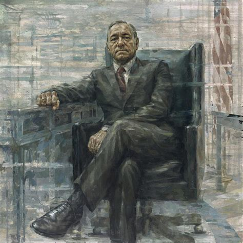 House Portrait Artist by House Of Cards Kevin Spacey Debuts Frank Underwood