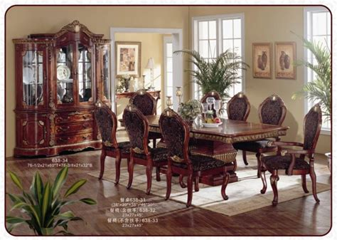 american classical antique wooden dining room furniture