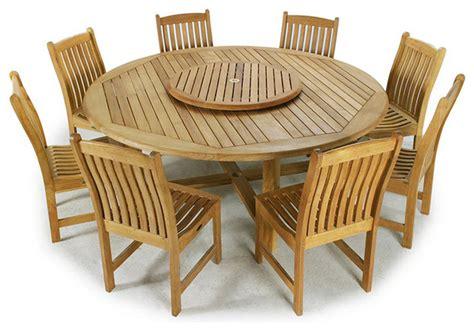 buckingham 9pc teak wood dining set modern dining sets