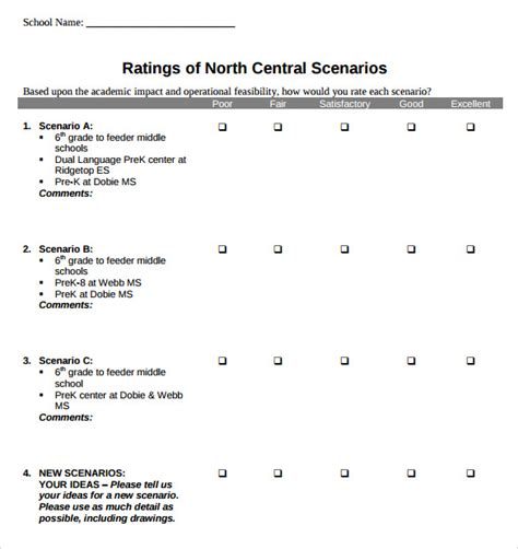 rating template likert scale template 13 free pdf doc excel
