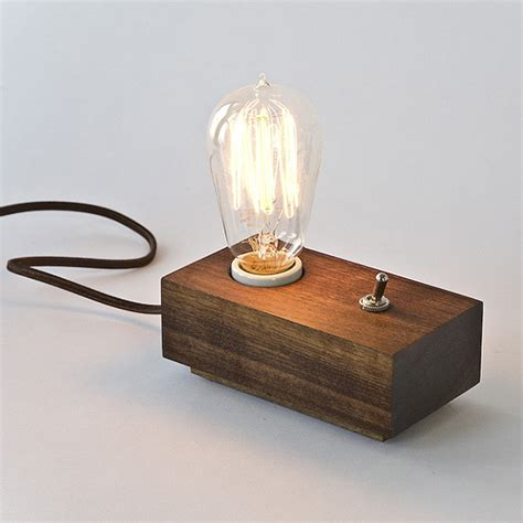 Edison Bulb Table L Cool Thing We Want 309 Scrap Walnut Andrew Berg Switch L With Edison Bulb Scout Magazine