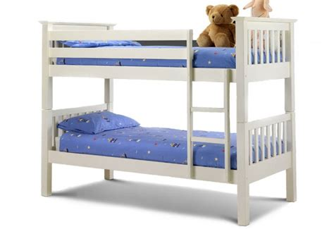 Julian Bowen Barcelona Bunk Bed Julian Bowen Barcelona Childrens White Bunk Bed With Premier Mattresses Underbed Drawers