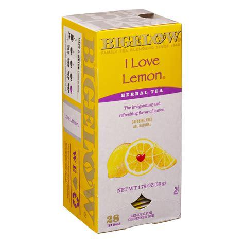 Bigelow Teas   I Love Lemon   Herbal   Box of 28   Coffee Wholesale