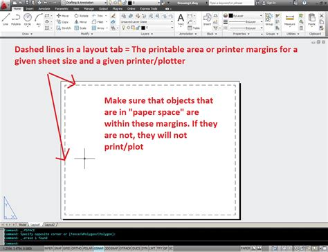 page layout software definition printer margins autocad tips