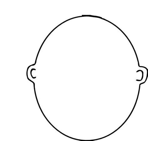 blank face coloring page english class pinterest