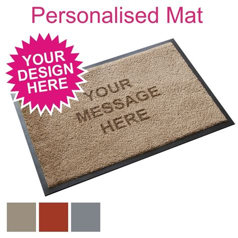 shop for personalised door mats from the mat factory