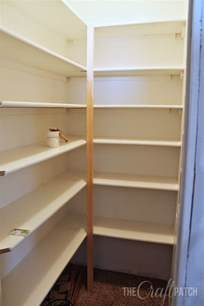 how to make shelving the craft patch how to build pantry shelves