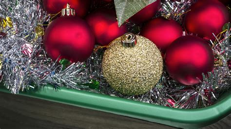 organization tips for storing ornaments garland and other