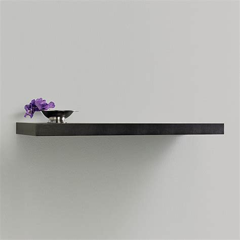 inplace shelving 47 3 quot floating wood wall shelf espresso