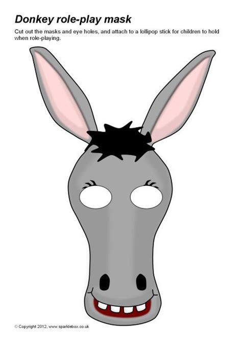 printable animal masks donkey donkey role play masks sb8007 sparklebox