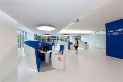 oficina central bbva bbva easybank branch interior customer service station