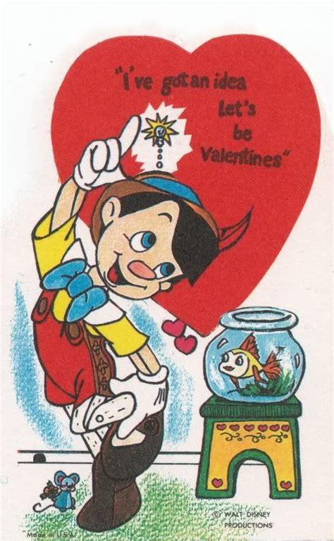 valentines card disney disney pinocchio vintage valentines