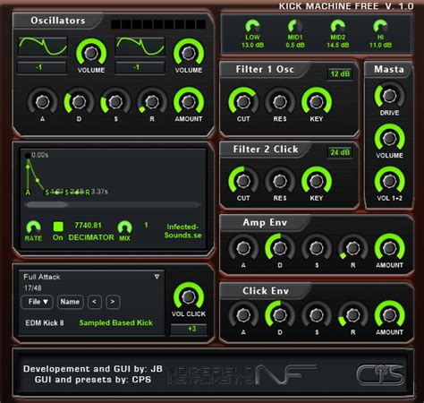 drum pattern generator vst great free kick bass drum plugin from infected sounds