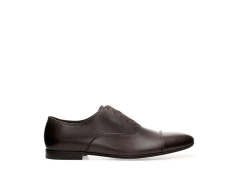 brown boat shoes zara zara oxford shoe in brown for men lyst