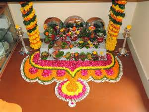 decoration for puja at home my creativity mangala gauri pooja decoration